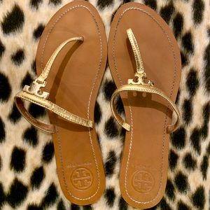 Tory Burch T Logo Flat Thong Sandals